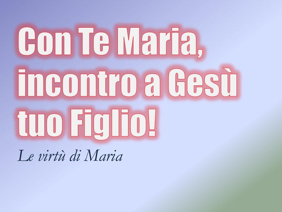 La CARITA' di MARIA Beata colei che ha creduto Maria, ARCA della nuova alleanza Canto iniziale Maria, tu che hai atteso