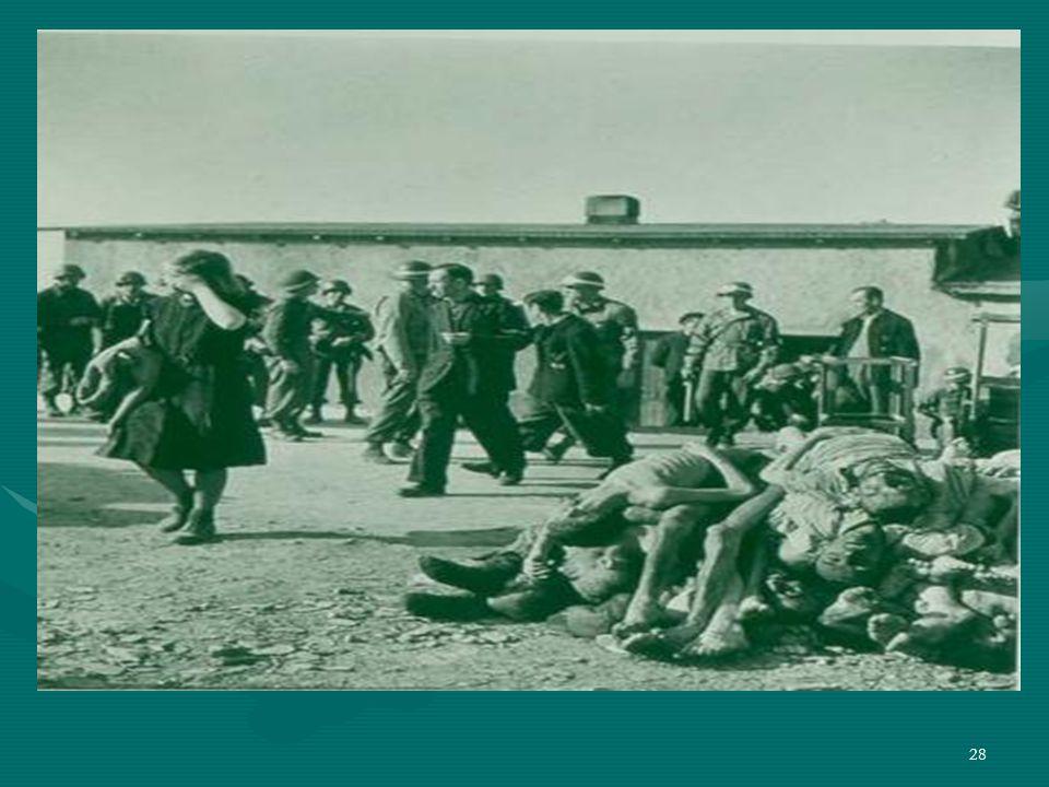 27 Dissimulazione dei crimini Il processo di sterminio e in generale la vita nel campo di concentramento erano segreti. Quei prigionieri che venivano