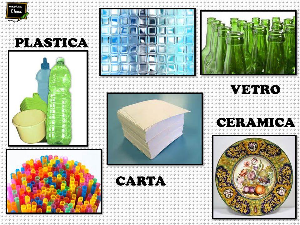 PLASTICA VETRO CARTA CERAMICA