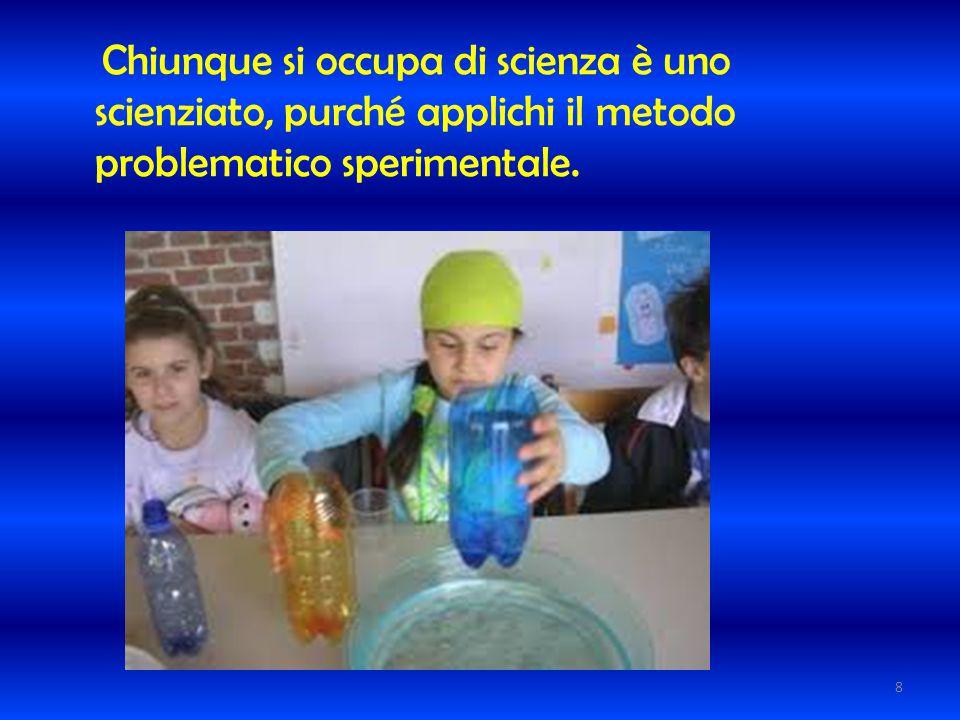 Chiunque si occupa di scienza è uno scienziato, purché applichi il metodo problematico sperimentale. 8