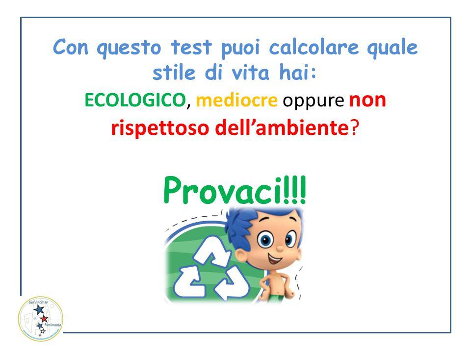 Con questo test puoi calcolare quale stile di vita hai: ECOLOGICO, mediocre oppure non rispettoso dell'ambiente? Provaci!!!