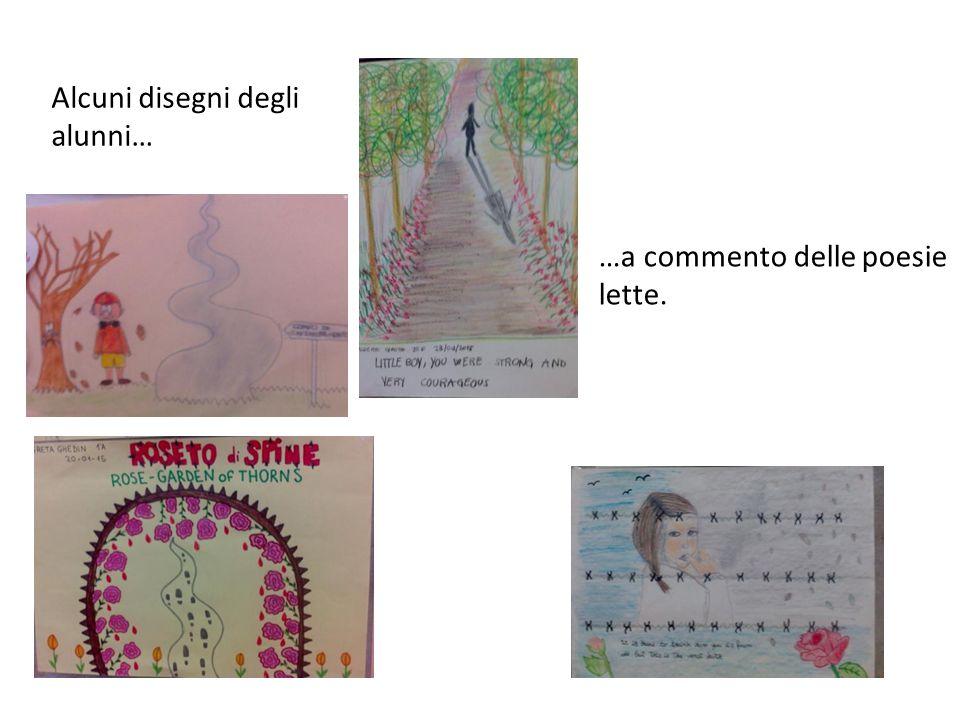 Alcuni disegni degli alunni… …a commento delle poesie lette.