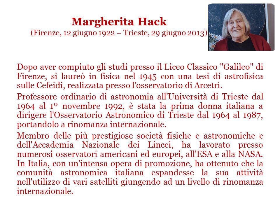 Fabiola Gianotti (Roma, 29 ottobre 1960) Laureatasi in fisica subnucleare presso l'Università degli Studi di Milano, è entrata a far parte del CERN ne
