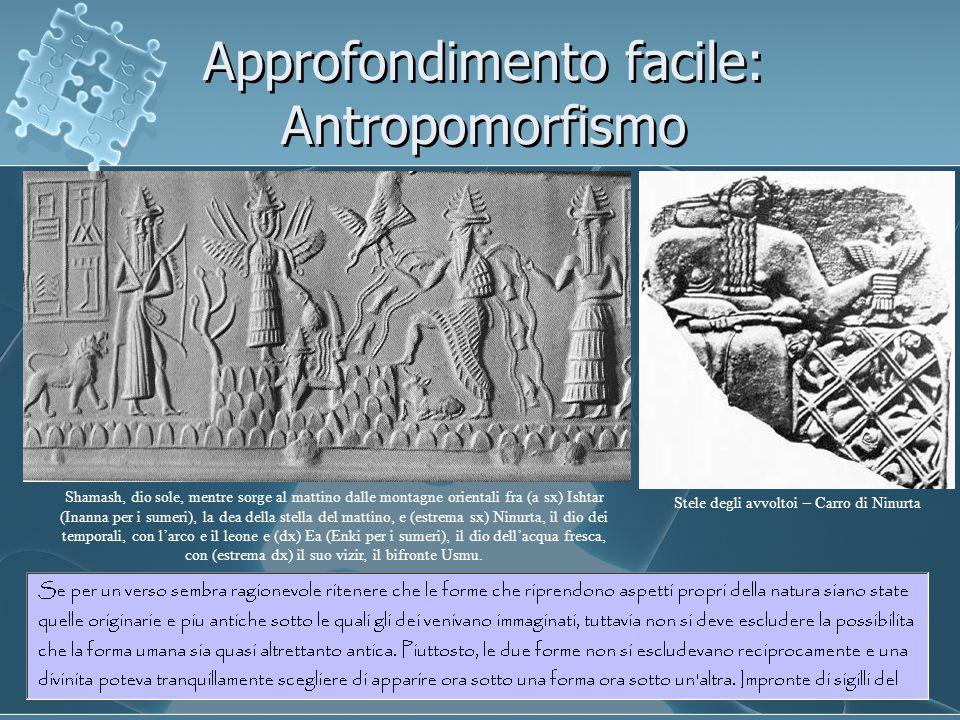 Approfondimento facile: Antropomorfismo Shamash, dio sole, mentre sorge al mattino dalle montagne orientali fra (a sx) Ishtar (Inanna per i sumeri), l
