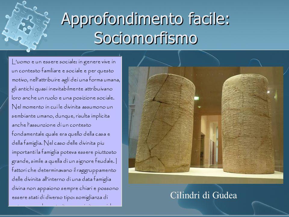 Approfondimento facile: Sociomorfismo Cilindri di Gudea