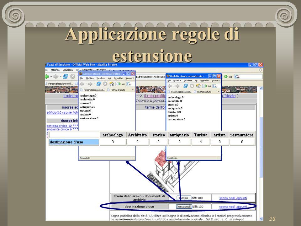 28 Applicazione regole di estensione