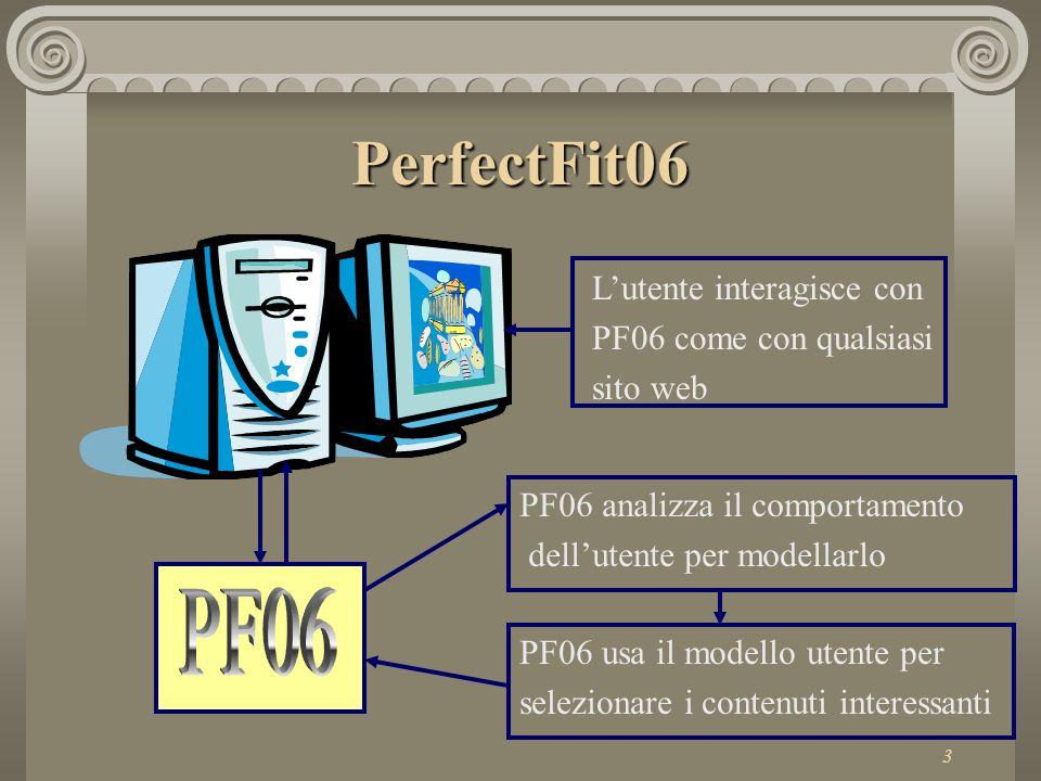 4 Le risorse risorse PerfectFit06 vede l'intero insieme delle informazioni partizionato in nuclei informativi atomici detti risorse.