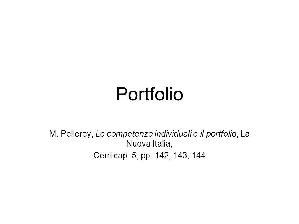 portfolio caratteristiche del portfolio tipologie di portfolio –di lavorolavoro –di presentazionepresentazione –di valutazionevalutazione la gestione del portfolio –gestito dallo studentestudente –gestito dal docentedocente un modello un diverso modello