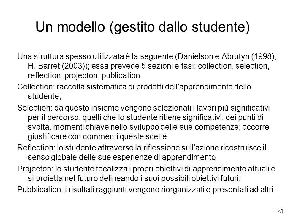 Una struttura spesso utilizzata è la seguente (Danielson e Abrutyn (1998), H.