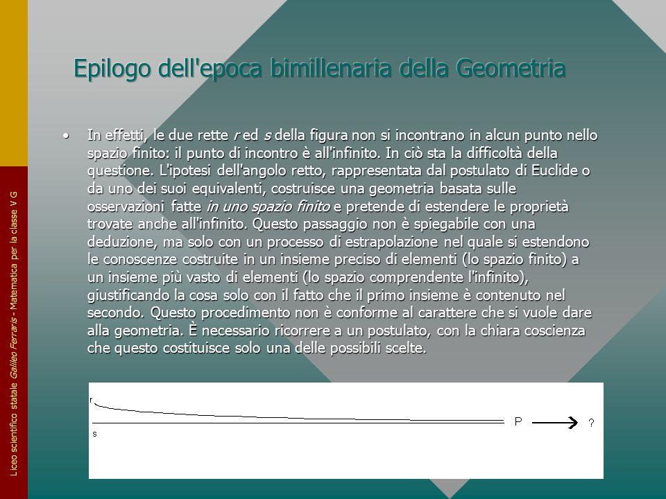 Liceo scientifico statale Galileo Ferraris - Matematica per la classe V G In effetti, le due rette r ed s della figura non si incontrano in alcun punt