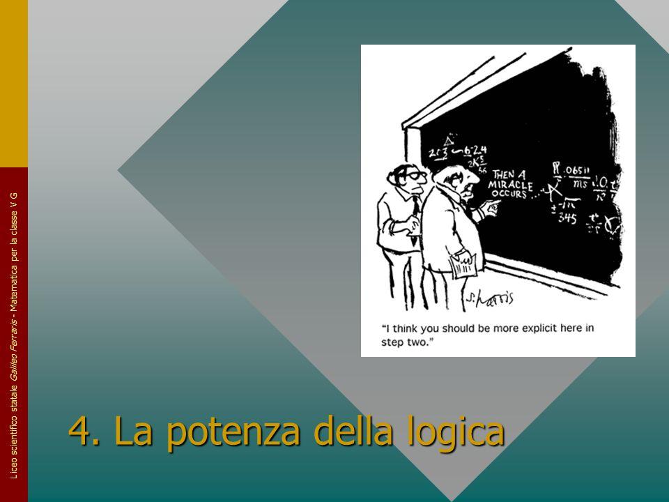 Liceo scientifico statale Galileo Ferraris - Matematica per la classe V G 4. La potenza della logica