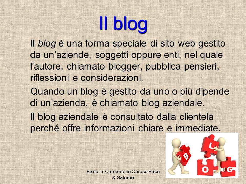 Bartolini Cardamone Caruso Pace & Salerno Per aprire un blog non servono permessi, è libero.