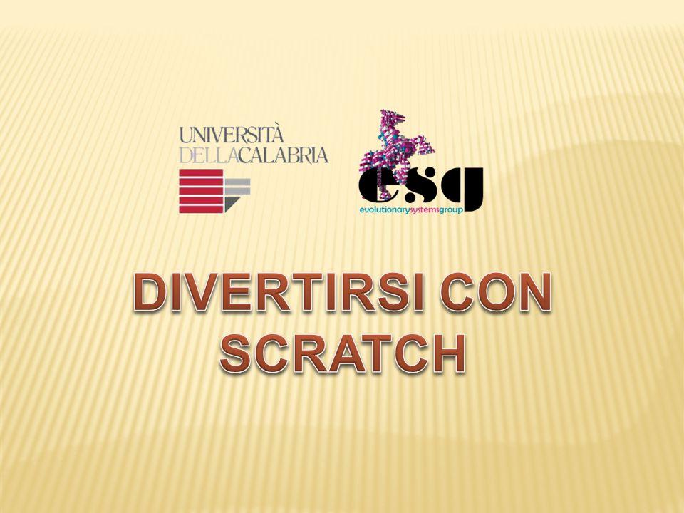  Scratch è un linguaggio di programmazione che permette di creare storie interattive, animazioni, giochi, musica e arte.