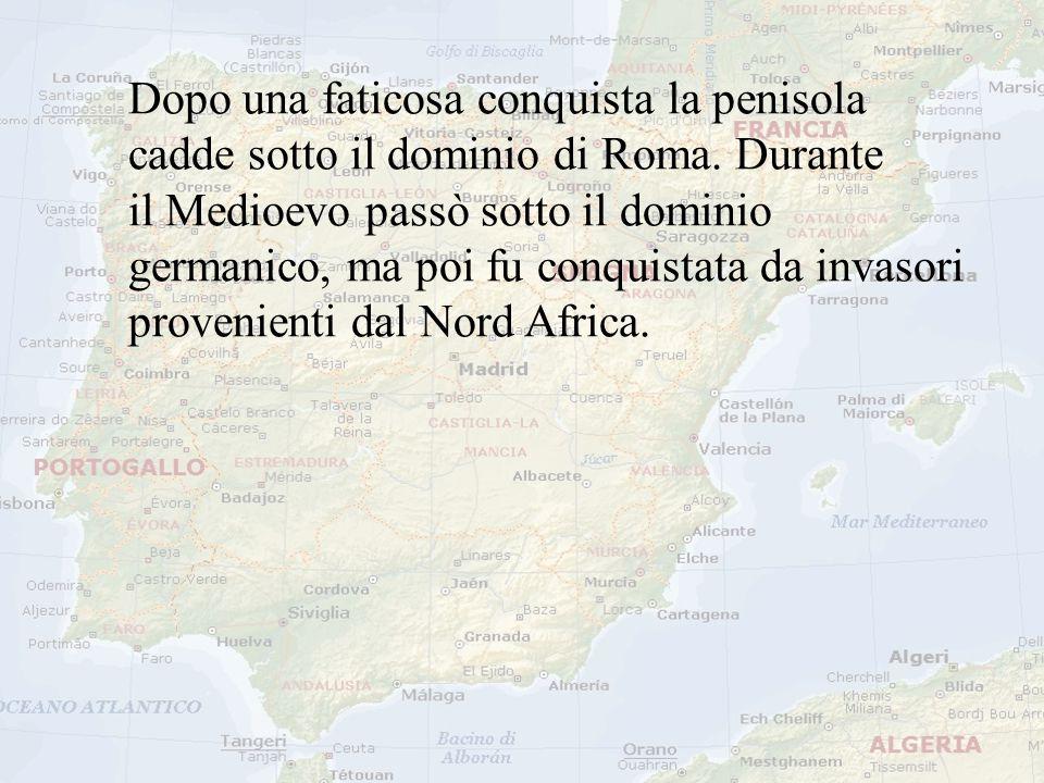 Dopo una faticosa conquista la penisola cadde sotto il dominio di Roma. Durante il Medioevo passò sotto il dominio germanico, ma poi fu conquistata da