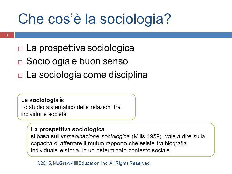 Che cos'è la sociologia? 3  La prospettiva sociologica  Sociologia e buon senso  La sociologia come disciplina La sociologia è: Lo studio sistemati