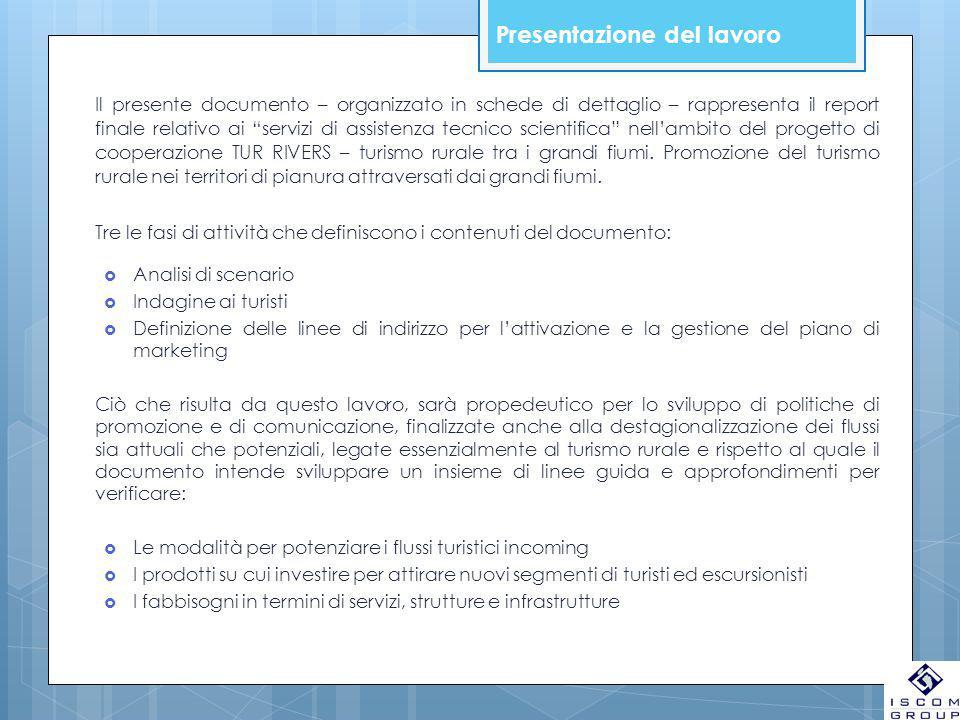 """Presentazione del lavoro Il presente documento – organizzato in schede di dettaglio – rappresenta il report finale relativo ai """"servizi di assistenza"""