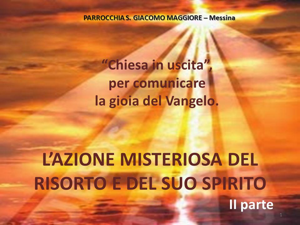 """PARROCCHIA S. GIACOMO MAGGIORE – Messina """"Chiesa in uscita"""", per comunicare la gioia del Vangelo. L'AZIONE MISTERIOSA DEL RISORTO E DEL SUO SPIRITO II"""