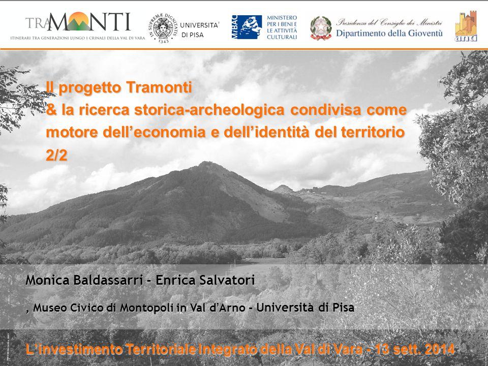 Inhabitants Monica Baldassarri - Enrica Salvatori, Museo Civico di Montopoli in Val d'Arno - Università di Pisa Il progetto Tramonti & la ricerca stor