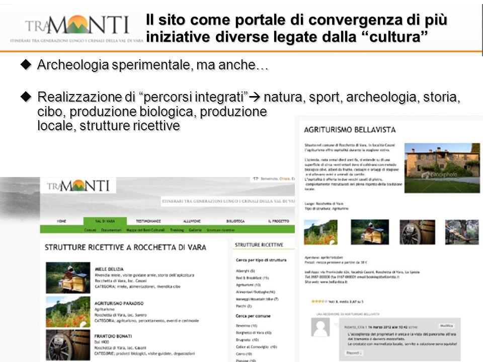 """ Archeologia sperimentale, ma anche…  Realizzazione di """"percorsi integrati""""  natura, sport, archeologia, storia, cibo, produzione biologica, produz"""