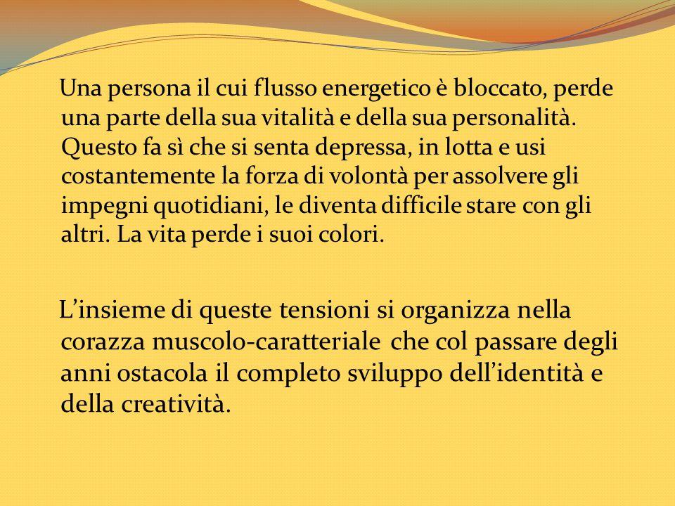 Una persona il cui flusso energetico è bloccato, perde una parte della sua vitalità e della sua personalità. Questo fa sì che si senta depressa, in lo