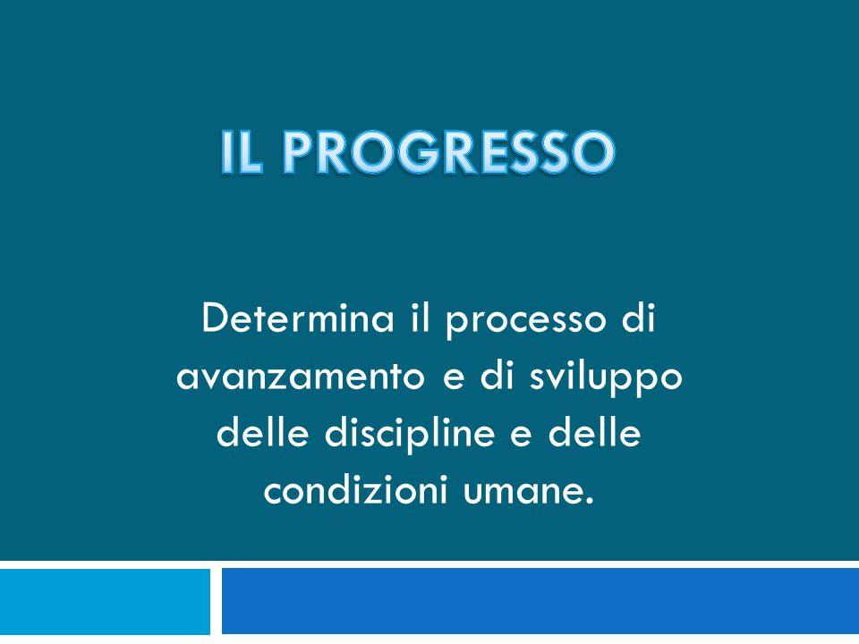 Determina il processo di avanzamento e di sviluppo delle discipline e delle condizioni umane.
