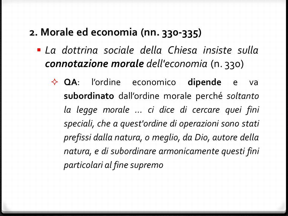 2. Morale ed economia (nn.