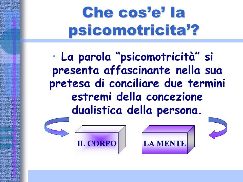 LA PSICOMOTRICITA'… LA PSICOMOTRICITA'… AMBITI DI INTERVENTO & CONTESTUALIZZAZIONE…