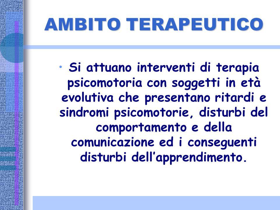 AMBITO EDUCATIVO- PREVENTIVO Gli interventi sono rivolti a favorire un armonico sviluppo psicomotorio, a prevenire disagi nella relazione e negli appr