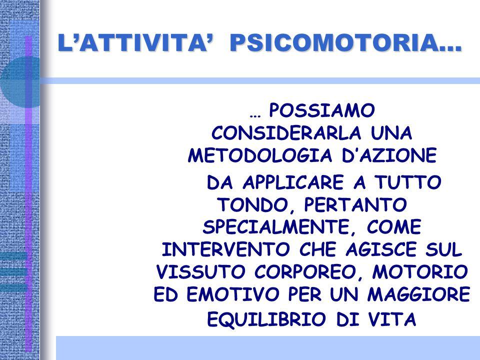 AMBITO FORMATIVO Un professionista, nell'ambito della psicomotricità, svolge attività di formazione indirizzata agli adulti (genitori, educatori, libe