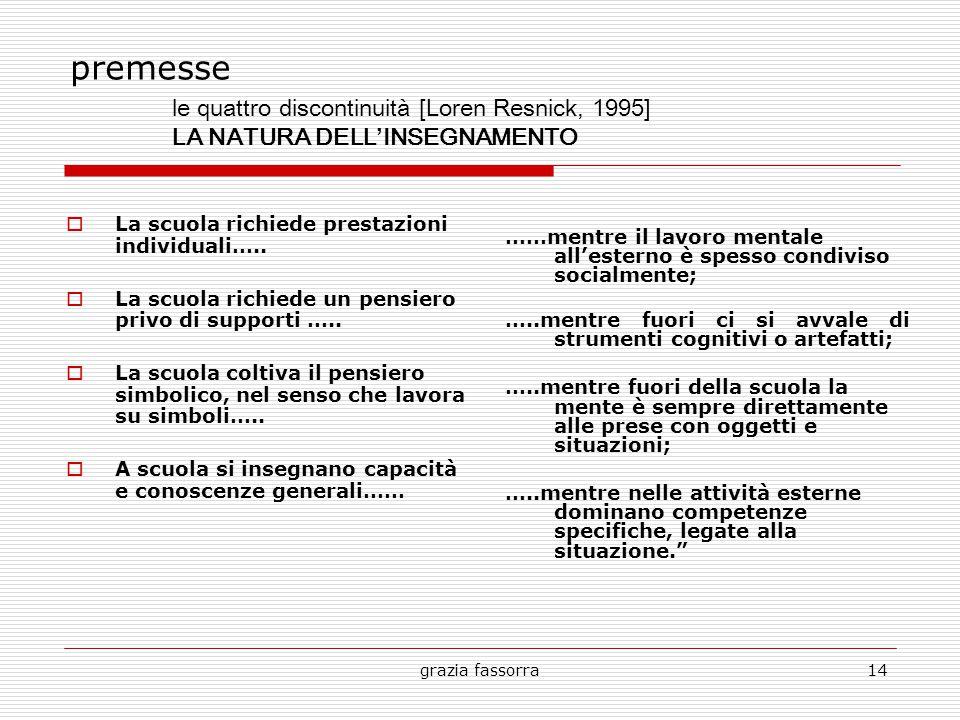 grazia fassorra14 premesse  La scuola richiede prestazioni individuali…..