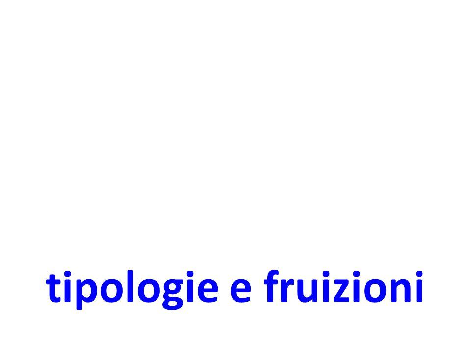 tipologie e fruizioni