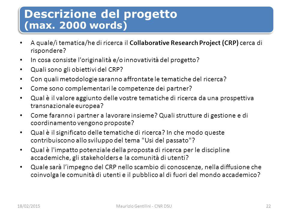 Descrizione del progetto (max.