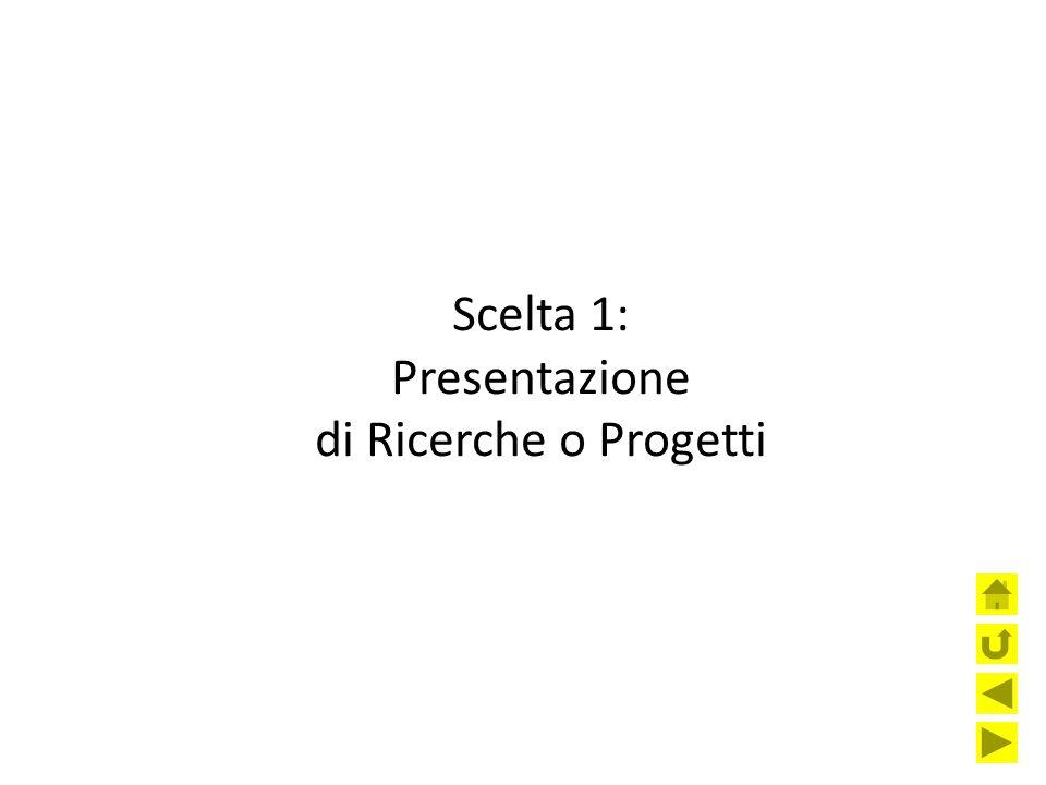 Scelta 1: Presentazione di Ricerche o Progetti