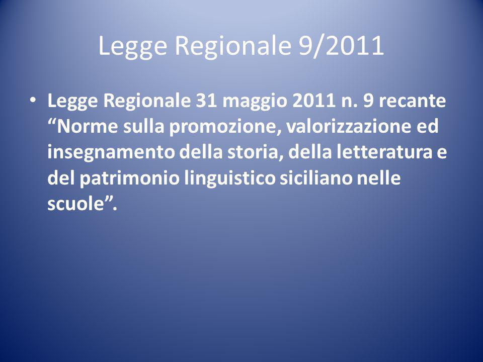 Legge Regionale 9/2011 Legge Regionale 31 maggio 2011 n.