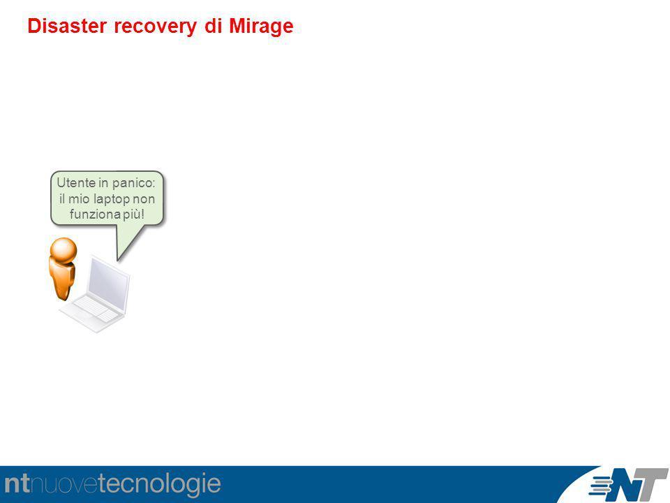 Disaster recovery di Mirage Utente in panico: il mio laptop non funziona più!