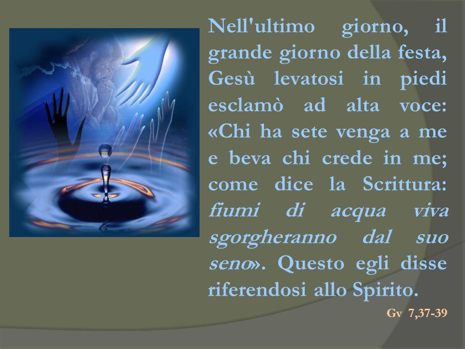 Egli è colui che è venuto con acqua e sangue, Gesù Cristo; non con l'acqua soltanto, ma con l'acqua e con il sangue. Ed è lo Spirito che dà testimonia