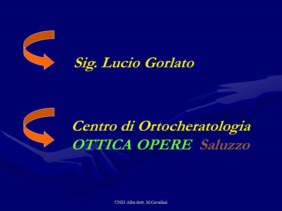 Sig. Lucio Gorlato Centro di Ortocheratologia OTTICA OPERE Saluzzo