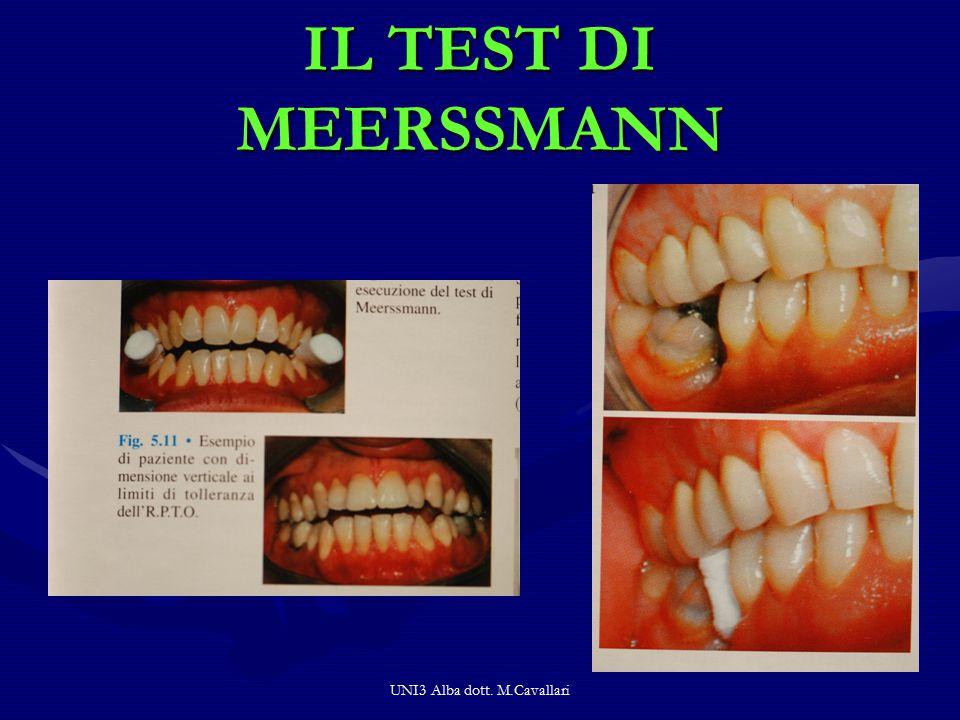 UNI3 Alba dott. M.Cavallari IL TEST DI MEERSSMANN