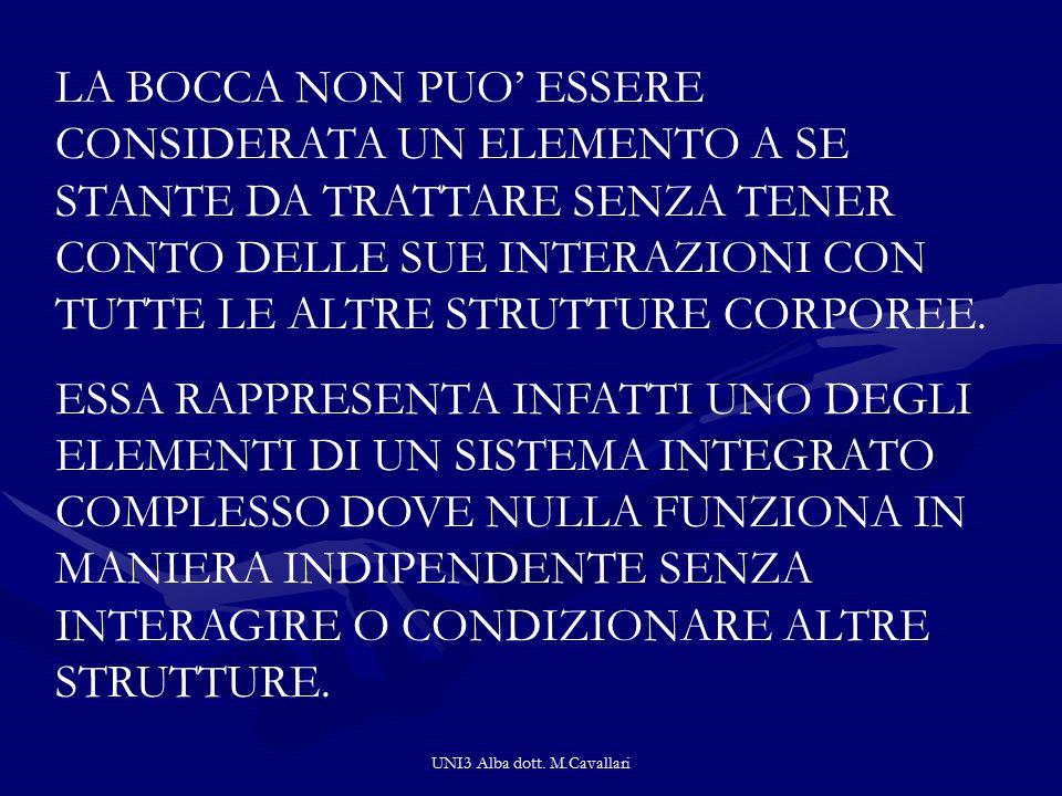 UNI3 Alba dott. M.Cavallari CORRELAZIONE TRA LE CATENE ANTERO-LATERALE E POSTERO-LATERALE