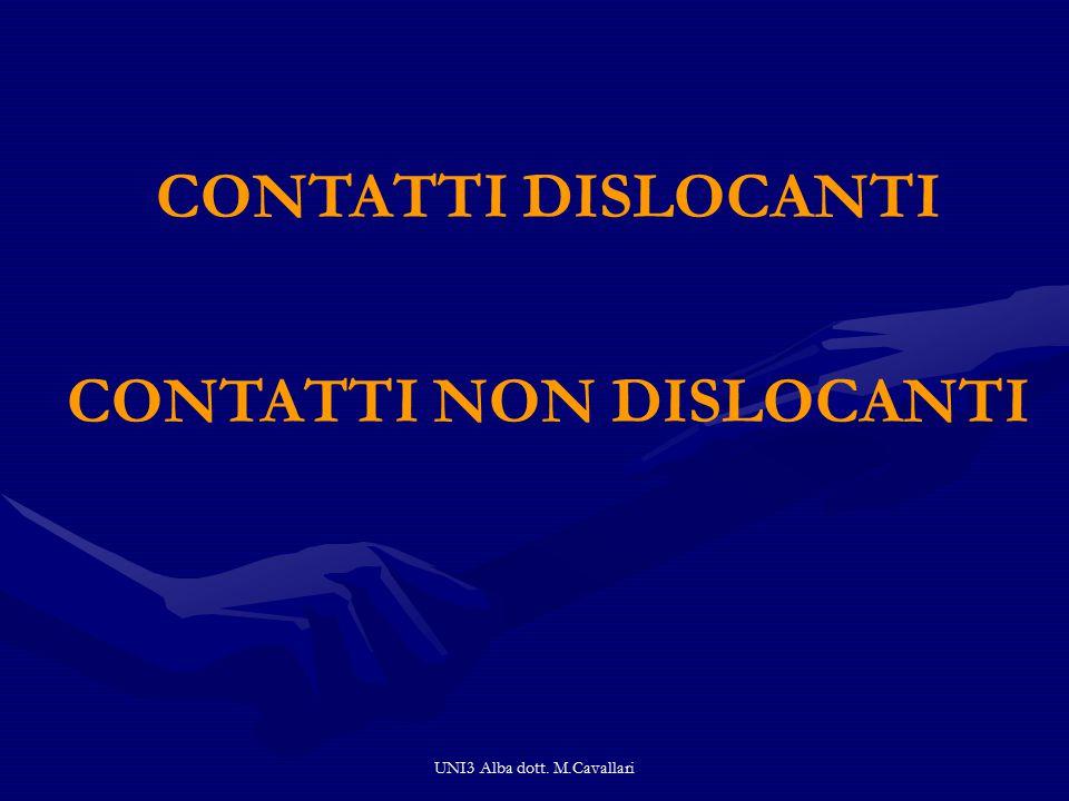 UNI3 Alba dott. M.Cavallari CONTATTI DISLOCANTI CONTATTI NON DISLOCANTI