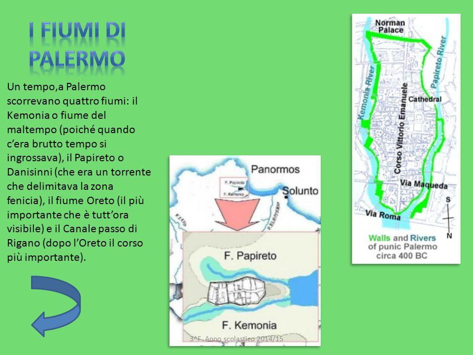 Un tempo,a Palermo scorrevano quattro fiumi: il Kemonia o fiume del maltempo (poiché quando c'era brutto tempo si ingrossava), il Papireto o Danisinni