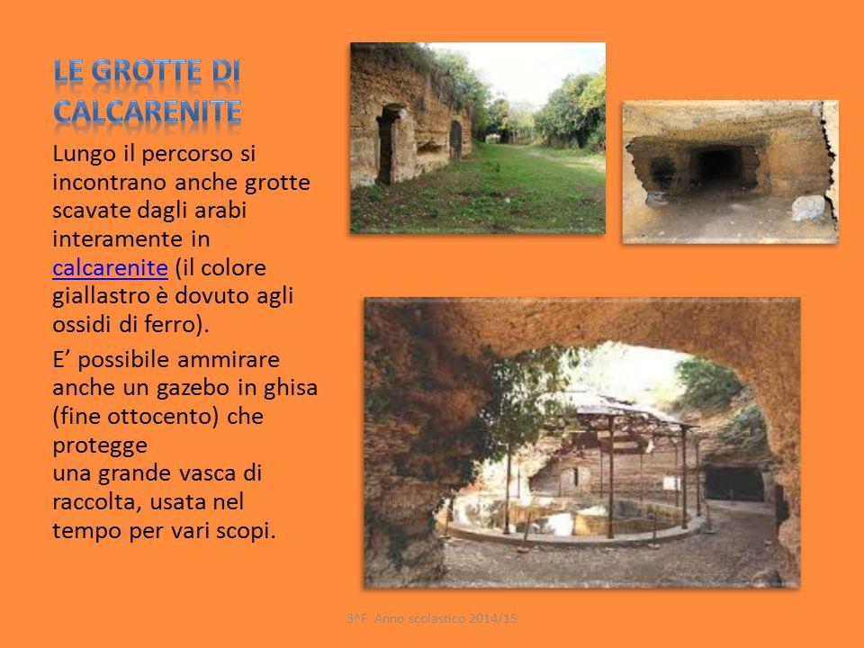 Lungo il percorso si incontrano anche grotte scavate dagli arabi interamente in calcarenite (il colore giallastro è dovuto agli ossidi di ferro). calc