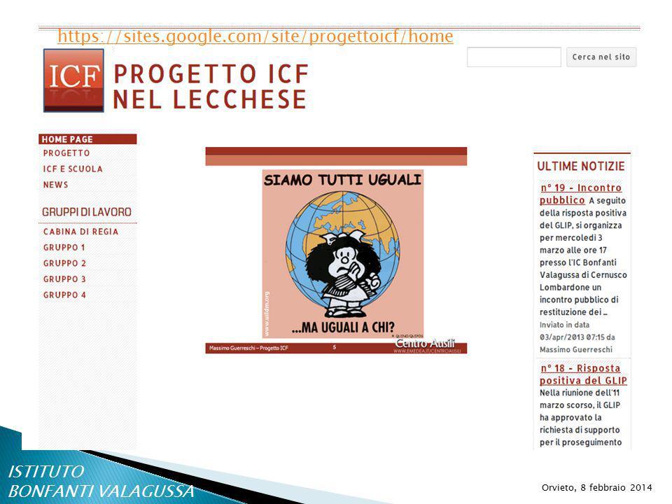 Orvieto, 8 febbraio 2014 ISTITUTO BONFANTI VALAGUSSA https://sites.google.com/site/progettoicf/home
