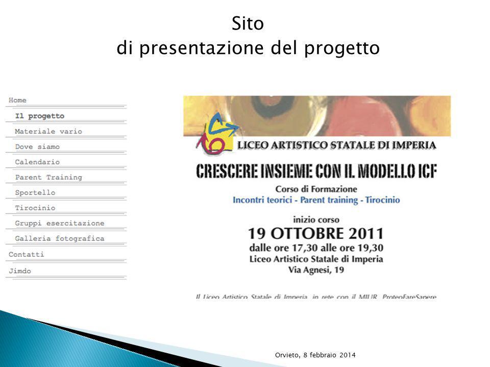 Sito di presentazione del progetto Orvieto, 8 febbraio 2014