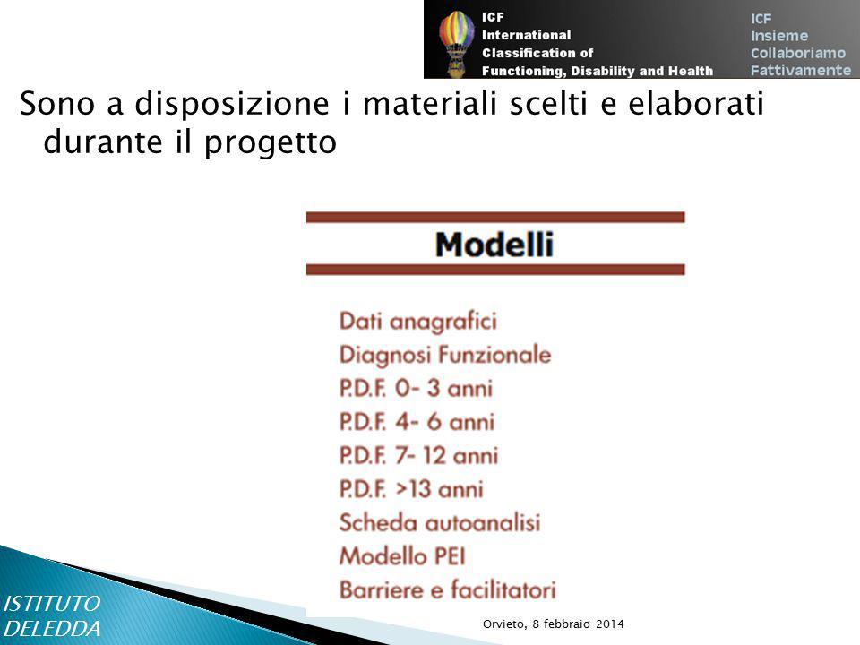 Sono a disposizione i materiali scelti e elaborati durante il progetto ISTITUTO DELEDDA Orvieto, 8 febbraio 2014
