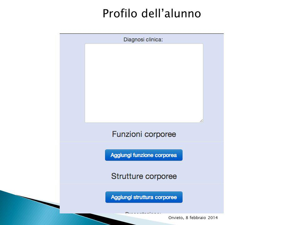 Profilo dell'alunno Orvieto, 8 febbraio 2014