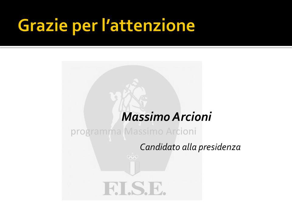 Massimo Arcioni Candidato alla presidenza