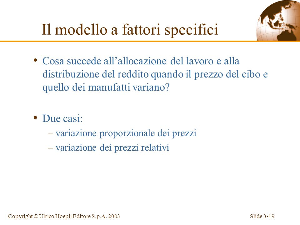 Slide 3-18Copyright © Ulrico Hoepli Editore S.p.A.