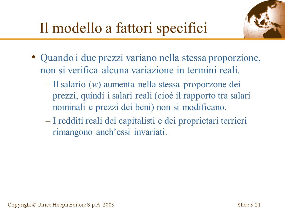 Slide 3-20Copyright © Ulrico Hoepli Editore S.p.A.