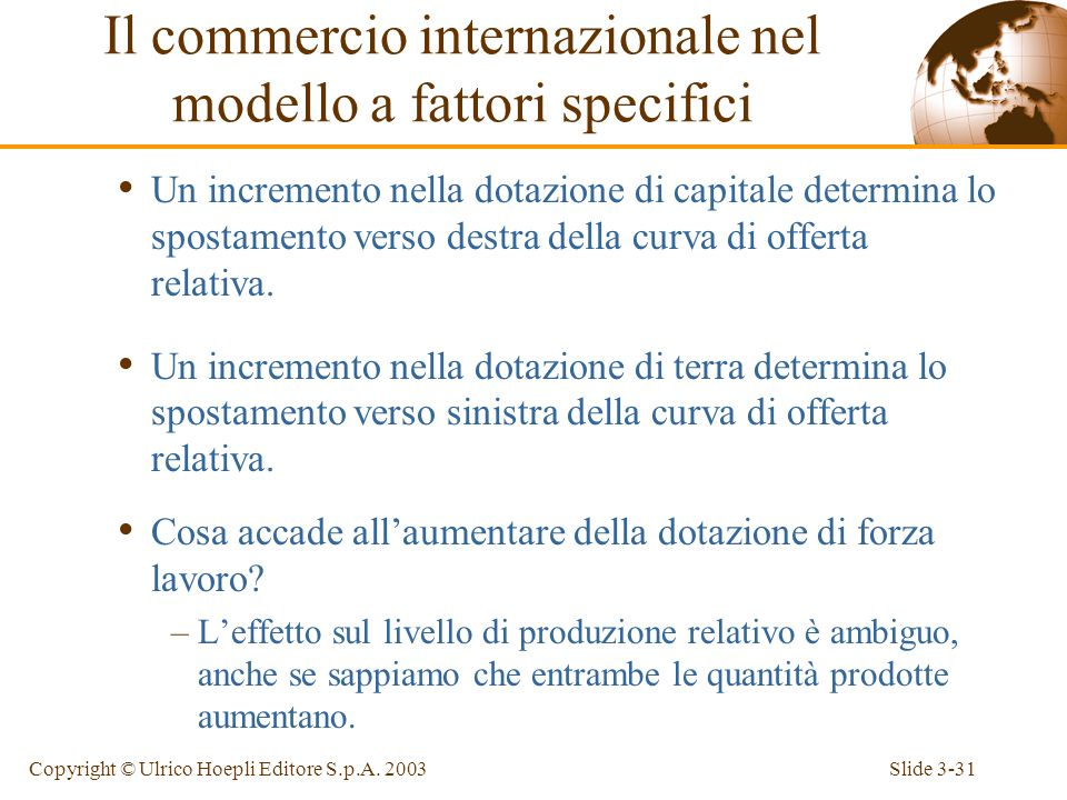 Slide 3-30Copyright © Ulrico Hoepli Editore S.p.A.
